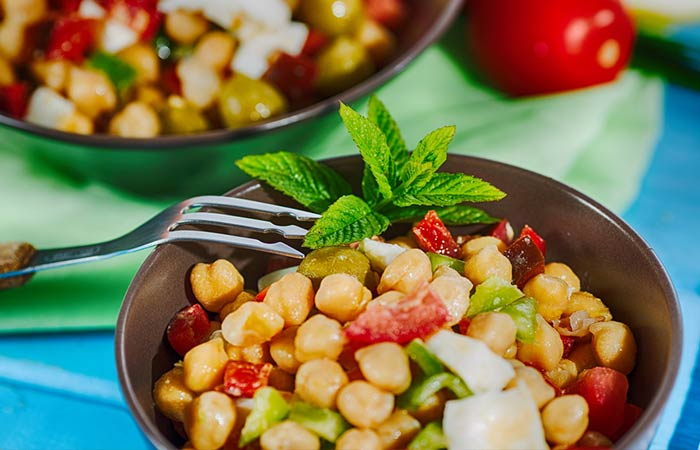1. Easy Mediterranean Chickpea Salad