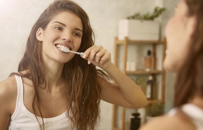 1. The way you brush your teeth