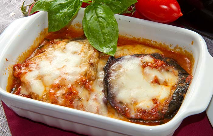 Mediterranean Diet Recipes - Eggplant Parmesan