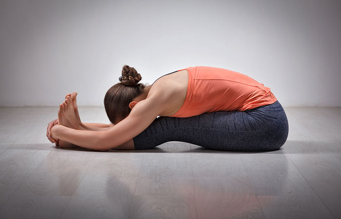 4. Paschimottanasana (Seated Forward Bend)