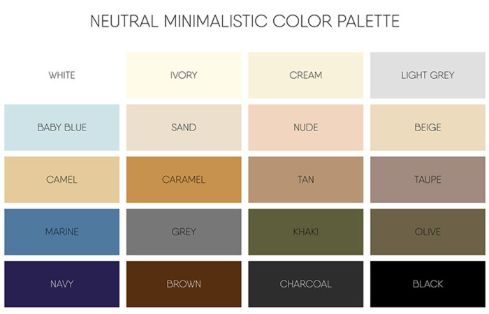 How to match the colors of your clothes a color wheel guide for Creamy neutral paint colors