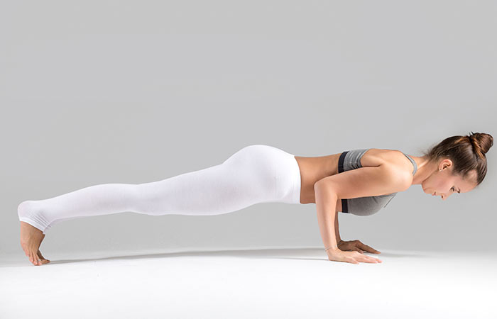1. Chaturanga Dandasana (Four-Limbed Staff Pose)