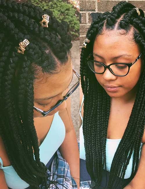 1. Star Accessorized Jumbo Box Braids