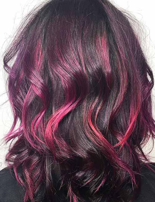 10. Shaded Purple And Magenta Highlights