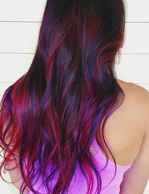 11. Popping Purple And Pink Highlights