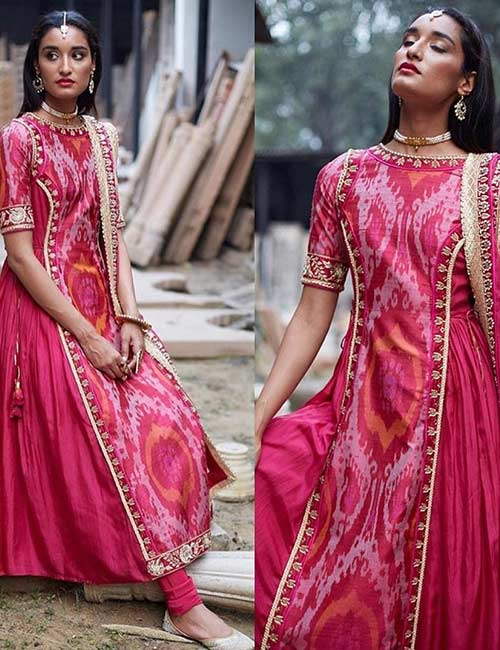 14. Embroidered Boat Neck Design For Salwar Chudidar