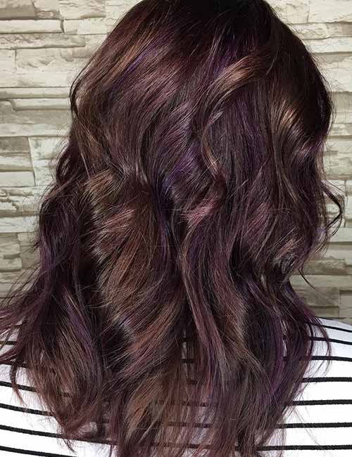 Purple Highlights Ideas For Dark Hair