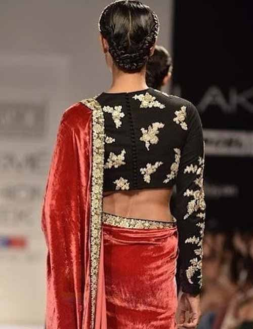 15. Aari PatchWork Design For Pattu Sarees