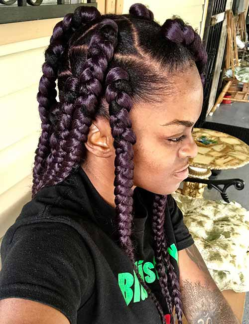 20 funky fresh styling ideas for jumbo box braids