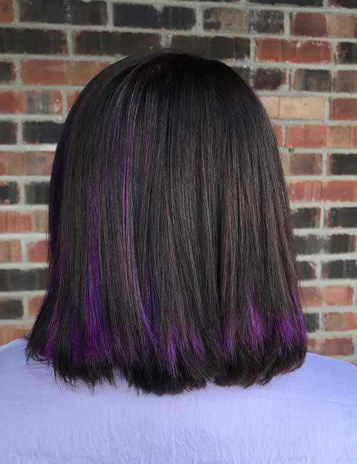 Purple Highlights For Dark Hair Find Your Perfect Hair Style