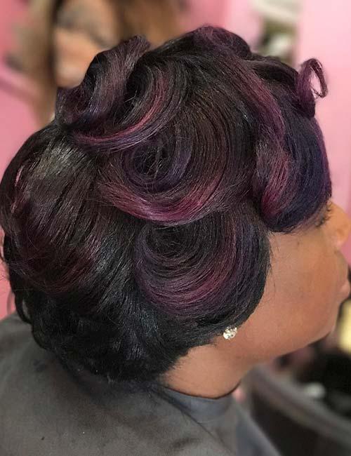 19. Understated Purple Highlights