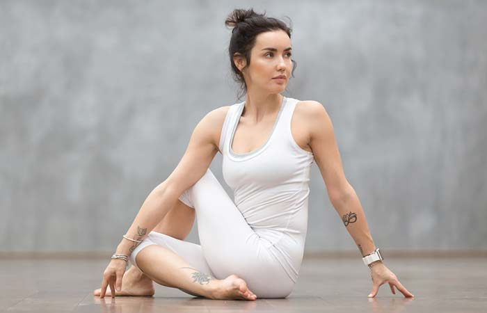 2. Ardha Matsyendrasana (Half-Spinal Twist)