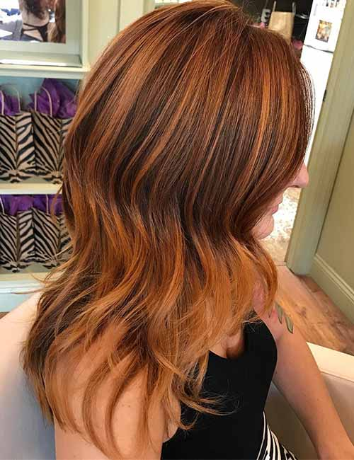 3. Copper And Blonde Highlights