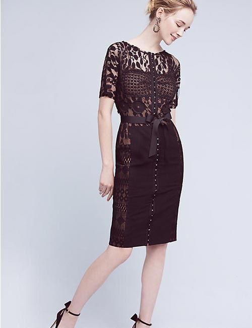 3. Short Black Sheath Dress