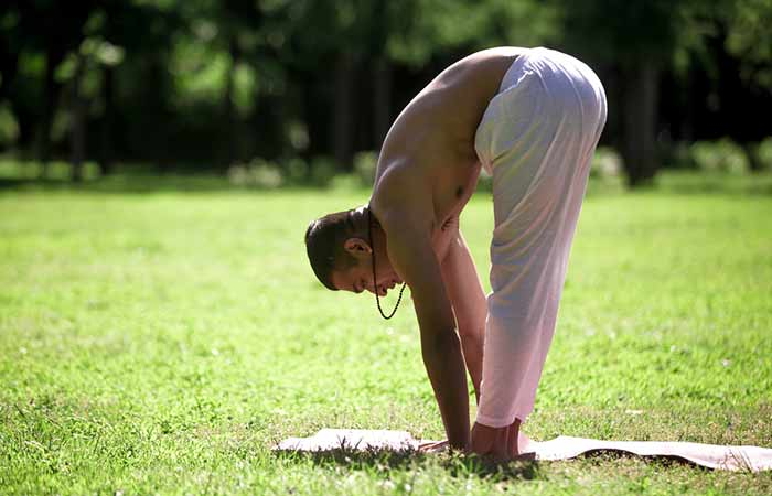 3. Uttanasana (Standing Forward Bend)