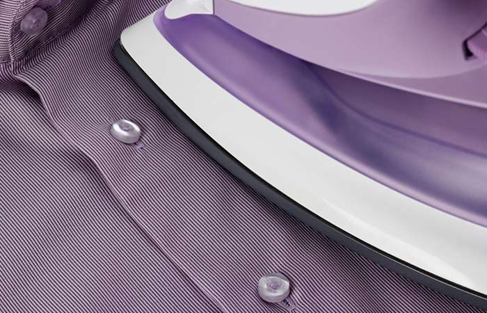 4. Ironing Formal Shirts But Buttons Getting In The Way Try This Awesome Solution.