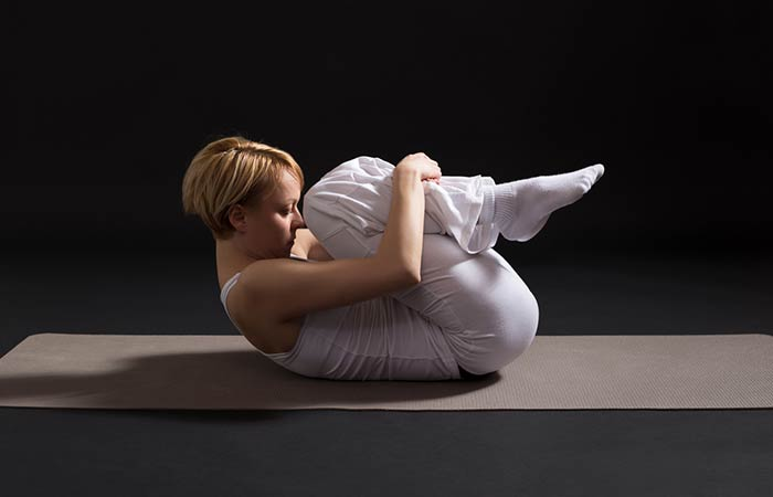 4. Pavanamuktasana (Wind- Relieving Pose)