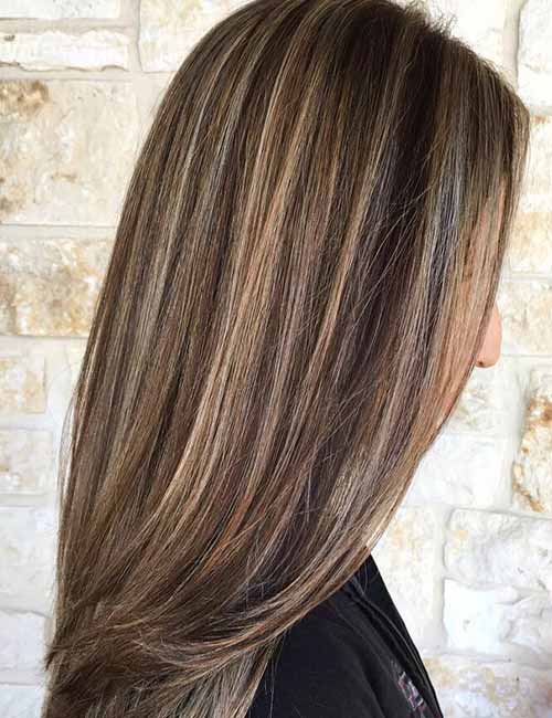 Brown Hair Highlights Lowlights Picture Gallery