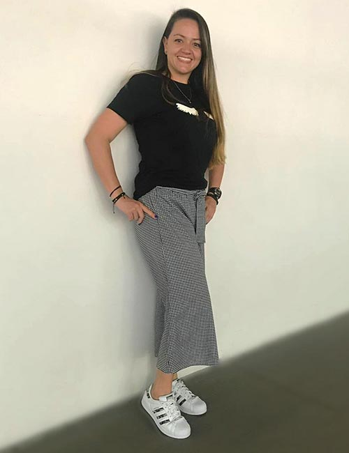 How To Wear Culottes - With A Captioned T-Shirt