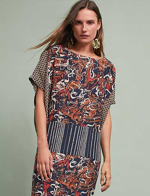 6. Floral Silk Dress
