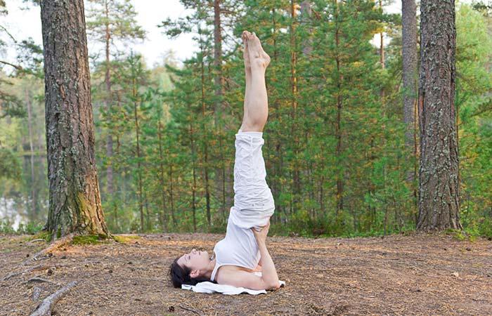 6. Salamba Sarvangasana (All Limbs Pose)