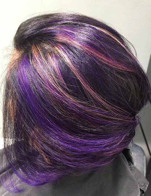 20 pretty purple highlights ideas for dark hair sunset purple highlights pmusecretfo Image collections