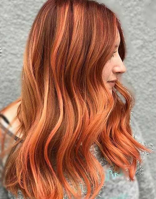 1. Copper And Peach Ombre
