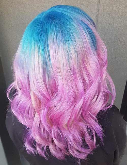 20 Yummy Cotton Candy Hair Color Ideas