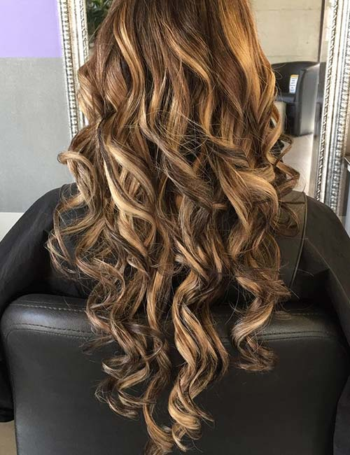 30 best highlight ideas for dark brown hair golden blonde highlights urmus Gallery