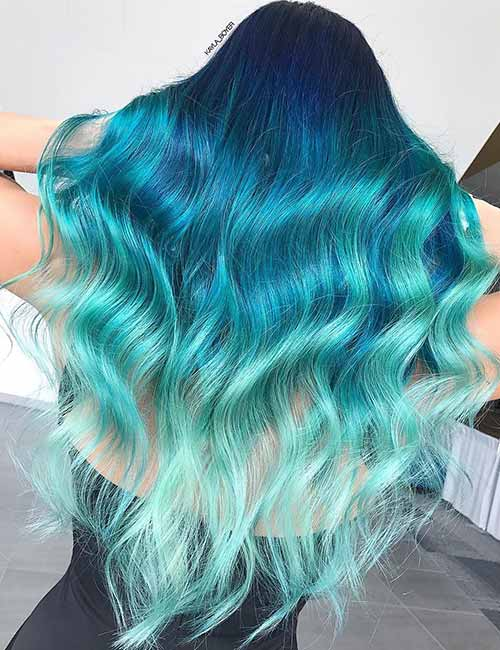 16 Beautiful Styling Ideas For Blue Ombre Hair