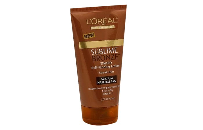 1. Loreal Sublime Bronze Tinted Self-Tanning Lotion
