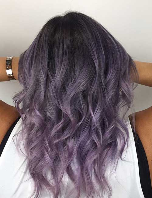 20 Lovely Lavender Ombre Hair Color Ideas