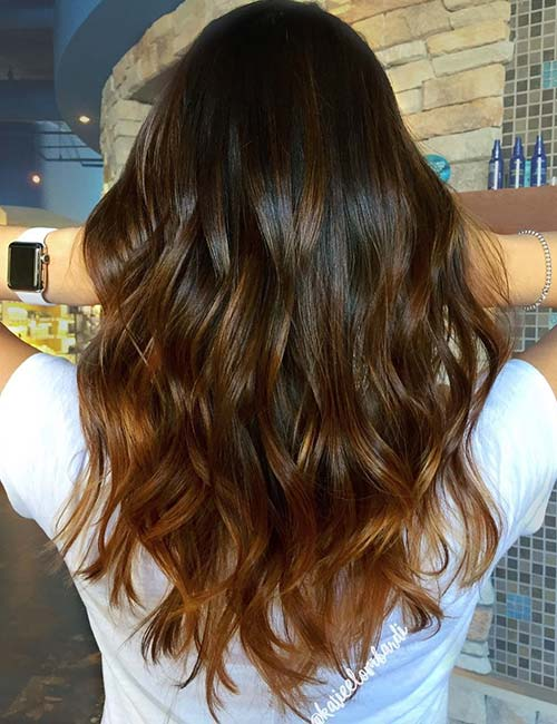 30 best highlight ideas for dark brown hair molten gold highlights pmusecretfo Choice Image