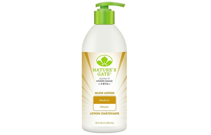 10.Nature's Gate Glow Lotion