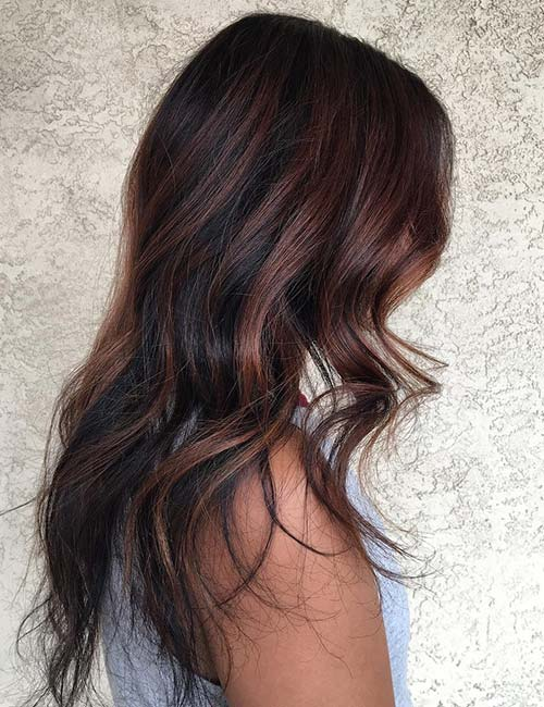To acquire Hair Black with caramel tips picture trends