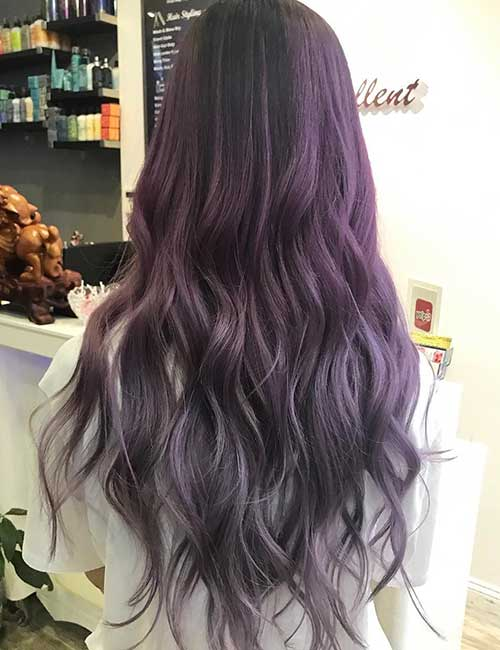 12. Dark To Light Lavender Ombre