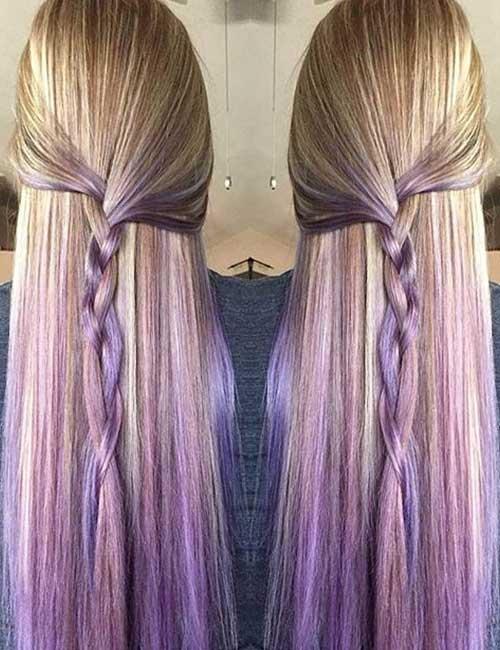 14. Gradual Lavender Ombre