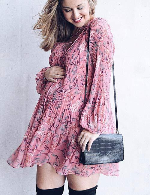 15. Floral Chiffon Dress