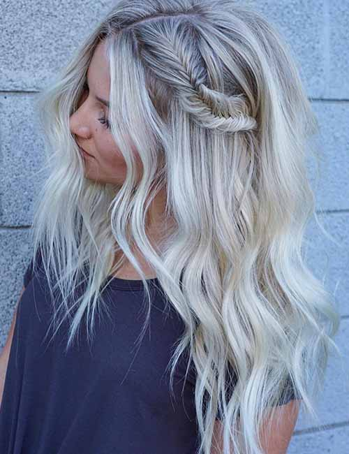 Two Toned Colored Hair: Top 25 Light Ash Blonde Highlights Hair Color Ideas For