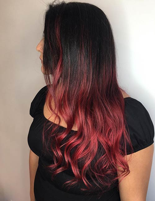 c4e96cac0a5 20 Radical Styling Ideas For Your Red Ombre Hair