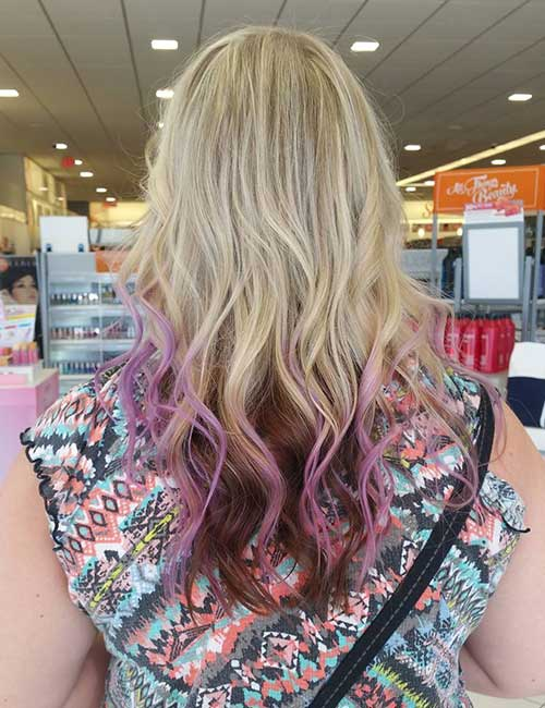 16. Pops Of Color Lavender Ombre