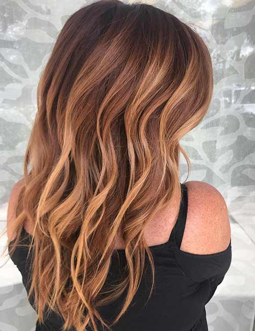 17. Warm Chestnut Balayage