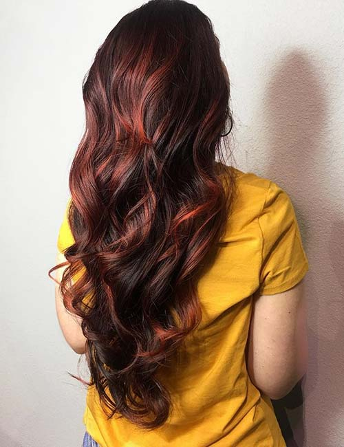 18. Burnt Red Highlights