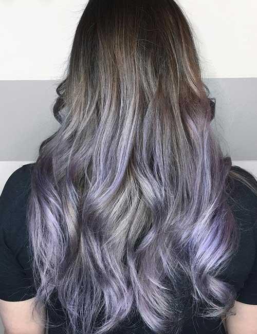 18. Metallic Lavender Ombre
