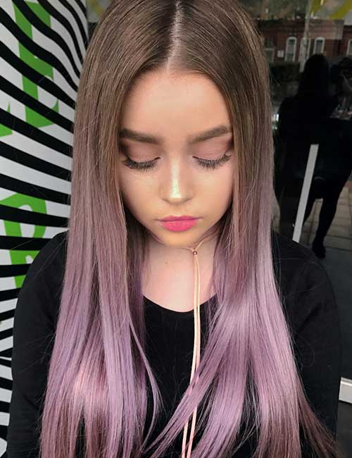 19. Rose Gold Tinted Lavender Ombre