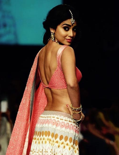 2. Satin And Sequin Backless Blouse