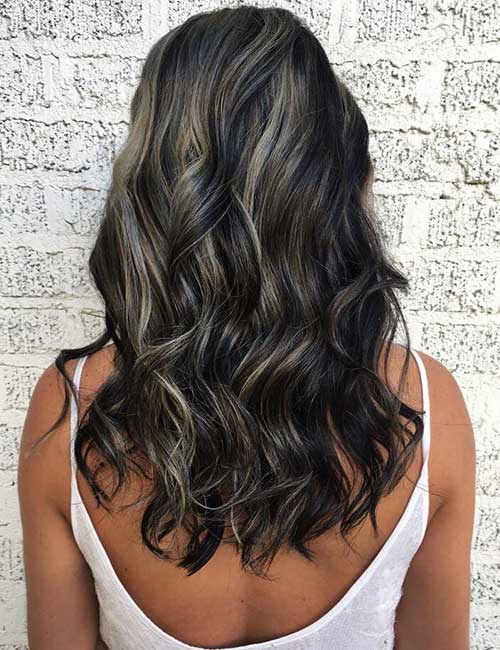 30 best highlight ideas for dark brown hair silver highlights solutioingenieria