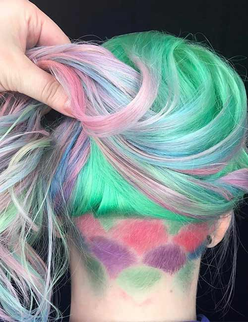 22. Pastel Mermaid Undercut