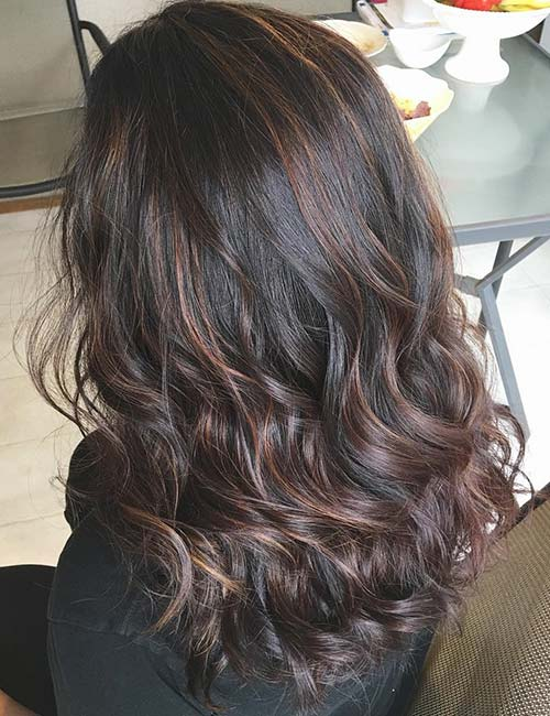 Gray highlights in dark brown hair choice image hair extension 30 best highlight ideas for dark brown hair rich auburn highlights pmusecretfo choice image pmusecretfo Images