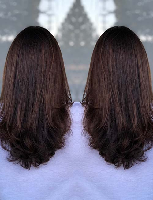 30 best highlight ideas for dark brown hair mahogany highlights pmusecretfo Choice Image